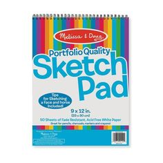 "<h3 style=""text-align: center;"" data-mce-fragment=""1""><em data-mce-fragment=""1"">50 rough reasons to start sketching!</em></h3> <p data-mce-fragment=""1"">This Sketch Pad by Melissa & Doug <span data-mce-fragment=""1"">will assist your little one in achieving professional artist status in no time. It f</span>eatures 50 pages of quality paper for budding artists to unleash their imaginations and creativity. This sketch pad <span data-mce-fragment=""1"">is an excellent way for your young</span><span"
