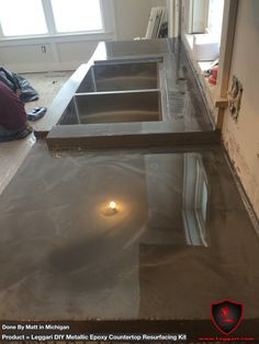 #coat your old or existing #countertops with our #diy #metallic #epoxy #countertop #resurfacing kits. There are #nolimits to what you can do with our #epoxyresin #kitchen #kitchenmakeover #kitchendesign #kitchenremodel #michigan