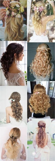 40 Stunning Half Up Half Down Wedding Hairstyles with Tutorial / www.deerpearlfl... #weddinghairstyles