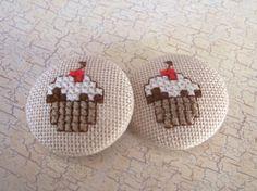cross stitching badge cuteness