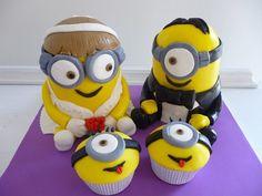 Minion cake , tarta