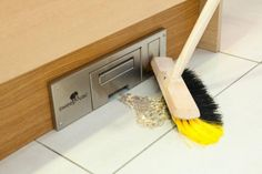 Sweepovac is a revolutionary kitchen vacuum that eliminates that pesky dirt-line often left behind by using a dustpan! it is easily placed in any kitchen by installing it in the bottom of the cabinets and does not require a central VAC system. It's strong suction, removes dirt in seconds, and it's sleek design allows for no loss of space.