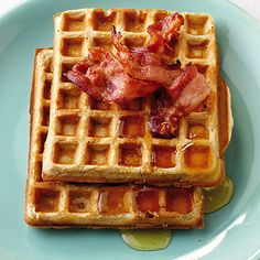 Amerikanische Waffeln - My list of the most healthy recipes Savory Waffles, Breakfast Waffles, Best Pancake Recipe, Food Porn, Good Food, Yummy Food, Cake & Co, Marzipan, Cranberries