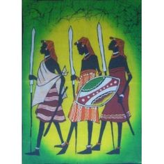 Art Pieces, African, Wall Art, Batik Art, Painting, Art, African Art, African Batik, Tribal Warrior