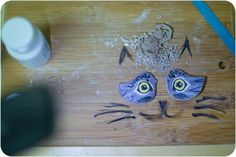 two birds or a cat?  ceramic