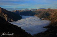 VAL CHISONE - La val Chisone sotto una coltre di nebbia #Pinerolo #Sestriere #Roure #Fenestrelle #Paysage #Italy #Alpes