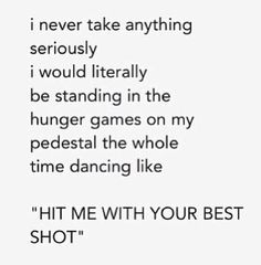 Not taking The Hunger Games seriously