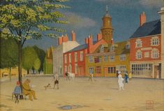 The Green At Banbury Painting by MotionAge Designs