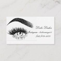 Customizable Corporate Business Card made by Zazzle Invitations. Elegant Business Cards, Business Card Logo, Corporate Business, Home Beauty Salon, Eyebrow Design, Eyelash Salon, Eyelash Extensions Styles, Lashes Logo, Beauty Lash