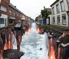 3d street art, street artists, optical illusions, sidewalk art, art paintings, art drawings, the artist, 3d drawings, sidewalk chalk art