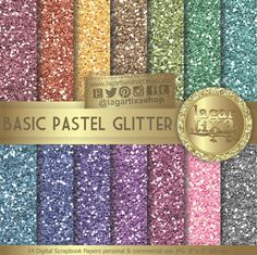 https://www.etsy.com/mx/listing/512365973/fondos-digitales-escarchados-glitter #glitter #escarchado #Sparkle #basics #digitalpaper #fondos #pastel #rainbow #backgrounds