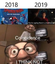 If there's a multiverse, then Toby Maguire and Andrew Garfield are still Spider-. - If there's a multiverse, then Toby Maguire and Andrew Garfield are still Spider-… If there' - Marvel Jokes, Funny Marvel Memes, Dc Memes, Avengers Memes, Stupid Funny Memes, Funny Relatable Memes, Funny Comics, Marvel Avengers, Hilarious