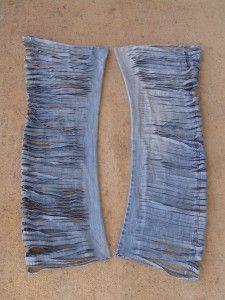 old jeans, denim yarn