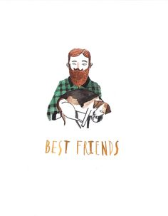 Best Friends Greetings Card by Dick Vincent Illustration