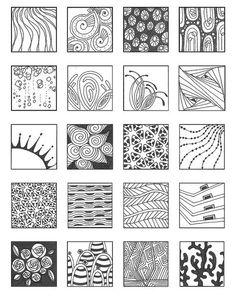 grid zentangle patterns - Google Search