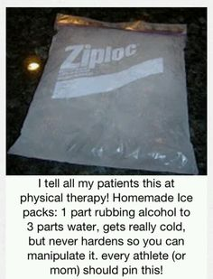 Want to know how to make your own cold packs?