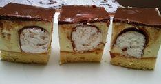 Nie wiem dlaczego to ciasto ma takową nazwę Dupa Pawiana;) Ale jest pyszne;) Biszkopt: 4 jaja 0,5 szklanki cukru kryształu 1 cuki... Ale, Cheesecake, Muffin, Food And Drink, Pudding, Cooking, Breakfast, Recipes, Food Ideas