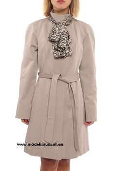 Damen Trench Coat Irene Grau