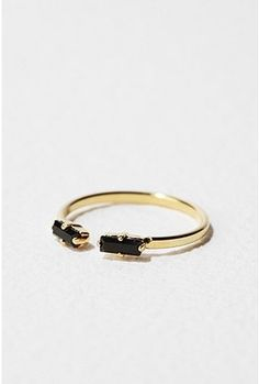 VIVEKA BERGSTROM, BLACK MICROCRYSTALS: love a delicate ring that's interesting while also refusing any twee ornamentation. #viveka_bergstrom #ring #jewelry  $60