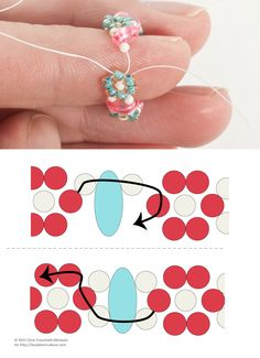Daisy Chain with Twin beads. #Seed #Bead #Tutorials