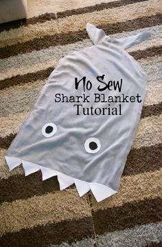 Make your own NO SEW Shark Tail Blanket Tutorial - SO awesome and under $6 and 30 minutes to make!!