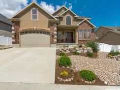 Beautiful, immaculate home in desirable Herriman neighborhood!  Beautiful hardwood floors through out home. Mudroom off garage with shelves and hooks. Upstairs laundry. Custom kitchen cabinets with large roll-out drawers, large corner pantry, granite countertops and stainless steel appliances. Breathtaking views of the city and mountains from large covered backyard Trex deck that is perfect for entertaining and has a gas line stubbed for a BBQ grill. Sun blocking window covering on window…
