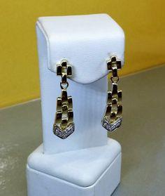 Ohrringe Silber 925 vergoldet Kristalle klar SO158 von Schmuckbaron