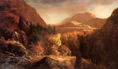 Landscape with Figures A Scene from The Last of the Mohicans    Artist: Thomas Cole