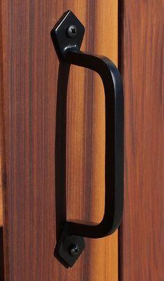 Solid Cast Iron Black Sliding Barn Door Handle Square Gates Garage Pulls    eBay Gate Handles, Barn Door Handles, Door Pull Handles, Door Pulls, 9 Square, Diy Cabinets, Interior And Exterior, Cast Iron, Home Improvement
