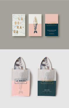 La Dorada Branding by Bunker 3002 Design Studio and La Conceptualist via Behance | Graphic Design | Logo | Fish Illustration