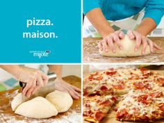 This recipe makes enough dough for 4 pizza crusts. Use to make as many pizzas as desired, then refrigerate any remaining dough up to 2 days or freeze up to 3 months. That's A Spicy Meatball, Pizza Recipes, Cooking Recipes, Parmesan Pizza, Cuisine Diverse, Frozen Drinks, Supper Recipes, Dough Recipe, Pizza Dough