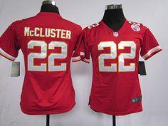 Women's Nike NFL Kansas City Chiefs #22 Dexter McCluster Red Jerseys