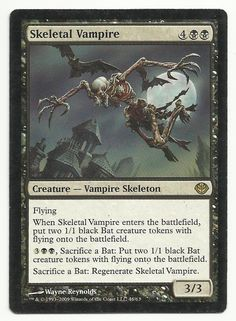 Skeletal Vampire x1 MTG MP Duel Decks Garruk Vs Liliana Black Magic Card TCG #WizardsoftheCoast