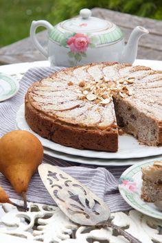 Pear and Ginger Cake #vegan #dairyfree #eggfree #sugarfree #glutenfre