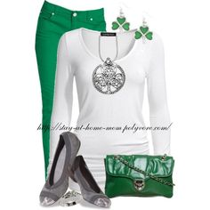 """""""Celtic Shamrock Necklace"""" by stay-at-home-mom on Polyvore"""