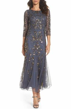 online shopping for Pisarro Nights Embellished Mesh Gown (Regular & Petite) from top store. See new offer for Pisarro Nights Embellished Mesh Gown (Regular & Petite) Mother Of The Bride Dresses Long, Mother Of Bride Outfits, Mothers Dresses, 1920s Formal Dresses, Formal Dresses For Women, Mob Dresses, Wrap Dresses, Petite Dresses, Party Dresses