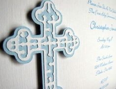 Baptism Invitations and Thank you cards  by ScrapYourStory on Etsy, $131.25