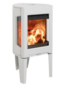 Jotul F 163 wood burning stove white thumbnail Foyers, Richard Le Droff, Home Fireplace, Wood Burning, Stove, Home Appliances, White Wood, 2013, Training