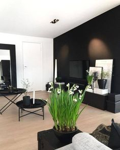 Those snowdrops🌱🌱💚 They are over half a meter high👌🏻👌🏻 . Living Room Sets, Home Living Room, Living Room Designs, Living Room Decor, Living Spaces, Dream Home Design, House Design, Modern Interior, Interior Design