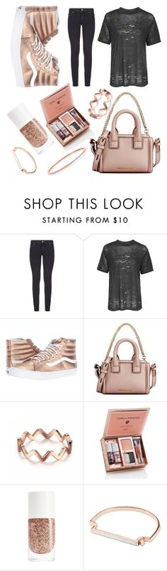 """""""black rose"""" by libil ❤ liked on Polyvore featuring Paige Denim, Topshop, Vans, Karl Lagerfeld and Monica Vinader"""
