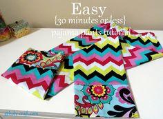easy pajama pant sewing tutorial