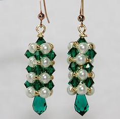 Cubic Right Angle Weave Earrings