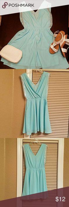 Selling this Flowy low cut dress. on Poshmark! My username is: meglatta. #shopmycloset #poshmark #fashion #shopping #style #forsale #Danika #Dresses & Skirts