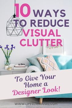10 Ways to reduce Visual Clutter for a clean and tidy home. Get tips on how to eliminate clutter to make your space seem more organized and tidy. Time to declutter! The best kept Professional Organizer secret! Deep Cleaning Tips, House Cleaning Tips, Spring Cleaning, Cleaning Hacks, Cleaning Schedules, Neat And Tidy, Tidy Up, Getting Rid Of Clutter, Getting Organized