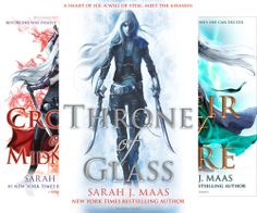 Throne of Glass Series by Sarah J. Maas - excellent young adult fantasy series, oriented to female readers. Can't wait for the 6th book to come out! More details and review - on my blow.