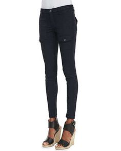 So+Real+Skinny+Pants,+Navy+by+Joie+at+Neiman+Marcus.