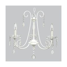 Jubilee Collection Bliss White Three Light Mini Chandelier (£155) ❤ liked on Polyvore featuring home, lighting, ceiling lights, white lights, white mini lights, mini lights, mini chandelier lighting and three-light