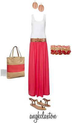 """""""Summer Maxi Skirt"""" by angkclaxton on Polyvore"""
