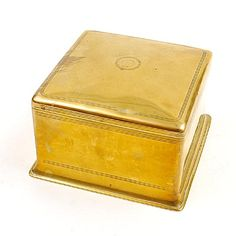 Square brass covered box design execution by Jan Eisenloeffel / the Netherlands ca.1905