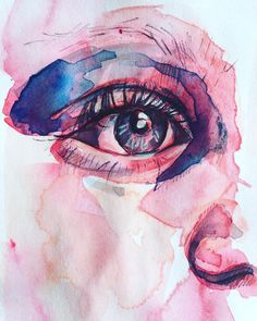 #watercolor #eye